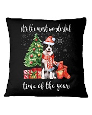 The Most Wonderful Xmas - Border Collie Square Pillowcase thumbnail