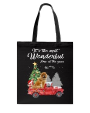 Wonderful Christmas with Truck - Chow Chow Tote Bag thumbnail