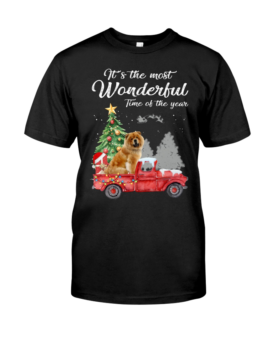 Wonderful Christmas with Truck - Chow Chow Classic T-Shirt
