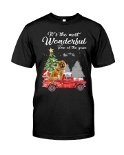Wonderful Christmas with Truck - Chow Chow Classic T-Shirt front