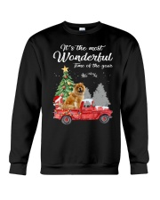Wonderful Christmas with Truck - Chow Chow Crewneck Sweatshirt thumbnail