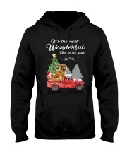 Wonderful Christmas with Truck - Chow Chow Hooded Sweatshirt thumbnail