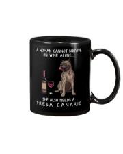 Wine and Presa Canario Mug thumbnail