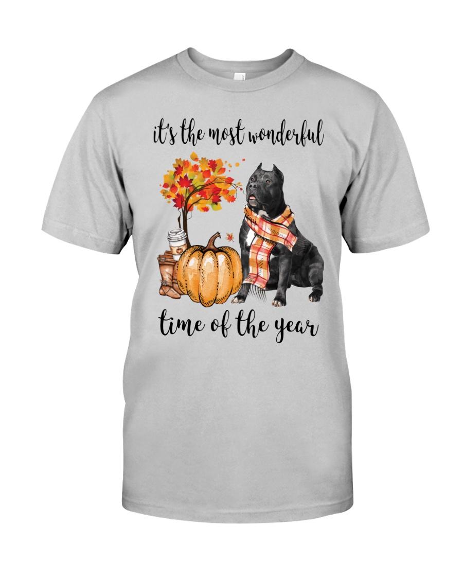 The Most Wonderful Time - Black Pit Bull Classic T-Shirt