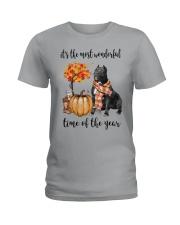 The Most Wonderful Time - Black Pit Bull Ladies T-Shirt thumbnail