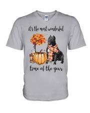 The Most Wonderful Time - Black Pit Bull V-Neck T-Shirt thumbnail