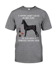 Wine and Tennessee Walking Horse Classic T-Shirt front