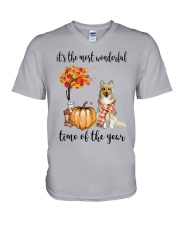 The Most Wonderful Time - Sheltie V-Neck T-Shirt thumbnail