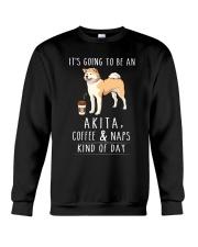Akita Coffee and Naps Crewneck Sweatshirt thumbnail