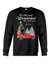 Wonderful Christmas with Truck - Rottweiler Crewneck Sweatshirt thumbnail