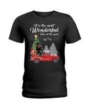 Wonderful Christmas with Truck - Rottweiler Ladies T-Shirt thumbnail