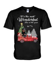 Wonderful Christmas with Truck - Rottweiler V-Neck T-Shirt thumbnail