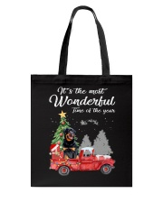 Wonderful Christmas with Truck - Rottweiler Tote Bag thumbnail
