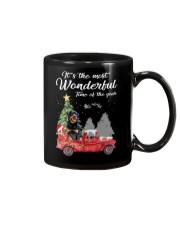 Wonderful Christmas with Truck - Rottweiler Mug thumbnail