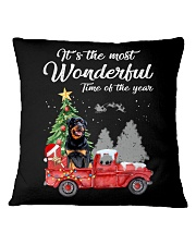 Wonderful Christmas with Truck - Rottweiler Square Pillowcase thumbnail
