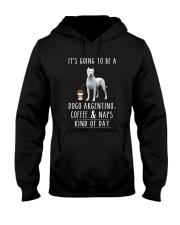 Dogo Argentino  Coffee and Naps Hooded Sweatshirt thumbnail