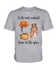 The Most Wonderful Time - Rough Collie V-Neck T-Shirt thumbnail