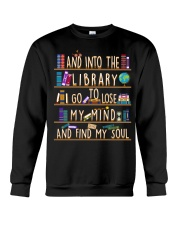 And Into The Library I Go Crewneck Sweatshirt thumbnail