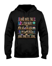 And Into The Library I Go Hooded Sweatshirt thumbnail