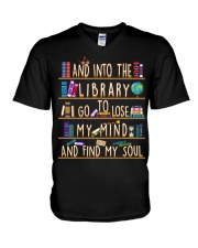 And Into The Library I Go V-Neck T-Shirt thumbnail