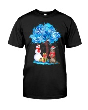 Snow Tree and Cat Classic T-Shirt front