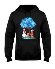 Snow Tree and Cat Hooded Sweatshirt thumbnail