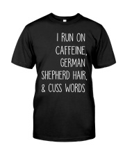 Caffeine and German Shepherd Classic T-Shirt front