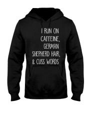 Caffeine and German Shepherd Hooded Sweatshirt thumbnail