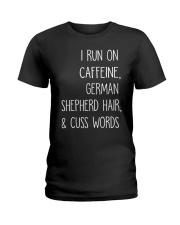 Caffeine and German Shepherd Ladies T-Shirt thumbnail