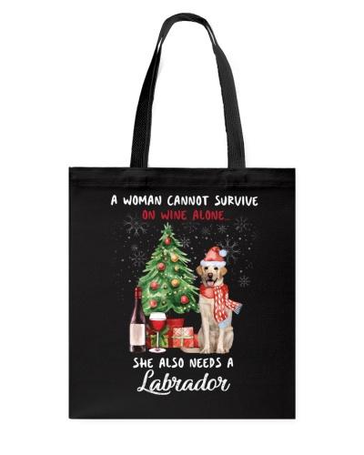 Christmas Wine and Labrador