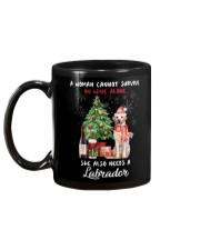 Christmas Wine and Labrador Mug back