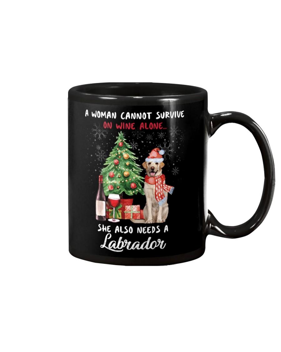 Christmas Wine and Labrador Mug