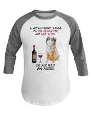Cannot Survive Alone - Aussie  Baseball Tee thumbnail