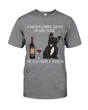 Wine and Frenchie 3 Classic T-Shirt front