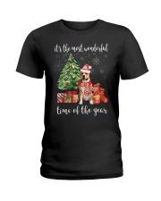The Most Wonderful Xmas - Amstaff Ladies T-Shirt thumbnail