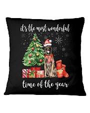The Most Wonderful Xmas - Belgian Malinois Square Pillowcase thumbnail