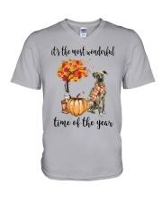 The Most Wonderful Time - Plott Hound V-Neck T-Shirt thumbnail
