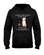 Wine and Goldendoodle Hooded Sweatshirt thumbnail