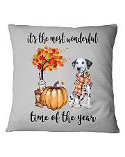 The Most Wonderful Time - Dalmatian Square Pillowcase thumbnail