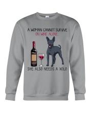 Wine and Xolo 2 Crewneck Sweatshirt thumbnail