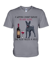 Wine and Xolo 2 V-Neck T-Shirt thumbnail
