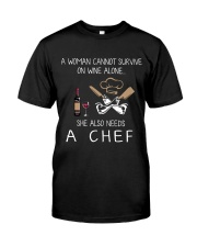 Wine and A Chef Classic T-Shirt front