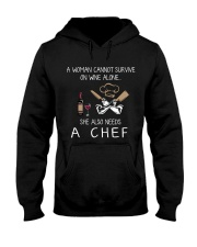 Wine and A Chef Hooded Sweatshirt thumbnail