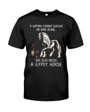 Wine and Gypsy Horse Classic T-Shirt front