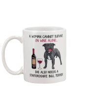Wine and Staffordshire Bull Terrier 2 Mug back