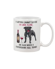 Wine and Staffordshire Bull Terrier 2 Mug front