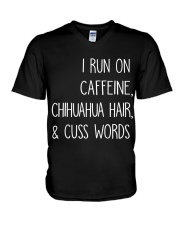 Caffeine and Chihuahua V-Neck T-Shirt thumbnail