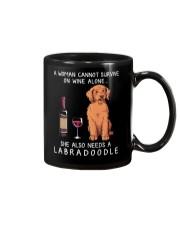 Wine and Labradoodle Mug thumbnail