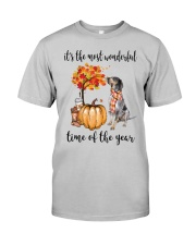 The Most Wonderful Time - Bluetick Coonhound Classic T-Shirt front