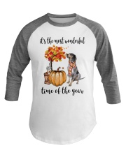 The Most Wonderful Time - Bluetick Coonhound Baseball Tee thumbnail